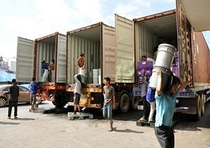 Bốc hàng container giá rẻ tại Hà Nội